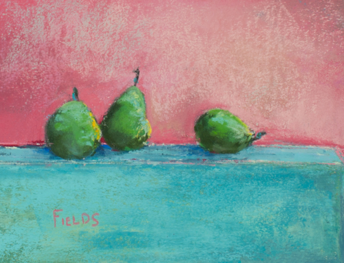 Pears on Wednesday – Texas Artist – Pastel Painting