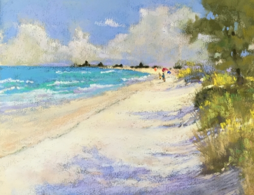 School's Out for Summer! – Summer Beach Pastel Painting